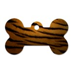 Tiger Print Dark	 Dog Tag Bone (Two Sides)
