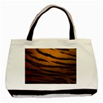 Tiger Print Dark	 Classic Tote Bag (Two Sides)