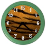 Tiger Print Dark	 Color Wall Clock