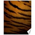 Tiger Print Dark	Canvas 11  x 14