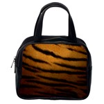 Tiger Print Dark	 Classic Handbag (One Side)