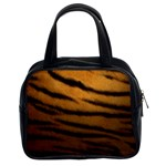 Tiger Print Dark	 Classic Handbag (Two Sides)