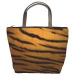 Tiger Print Dark	 Bucket Bag