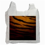 Tiger Print Dark	 Recycle Bag (One Side)