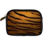 Tiger Print Dark	 Digital Camera Leather Case