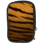 Tiger Print Dark	 Compact Camera Leather Case