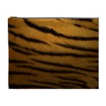 Tiger Print Dark	 Cosmetic Bag (XL)