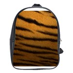 Tiger Print Dark	 School Bag (Large)