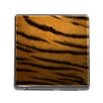 Tiger Print Dark	 Memory Card Reader with Storage (Square)