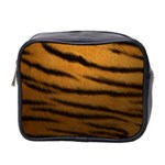 Tiger Print Dark	 Mini Toiletries Bag (Two Sides)