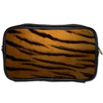 Tiger Print Dark	 Toiletries Bag (Two Sides)