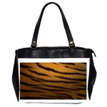 Tiger Print Dark	 Oversize Office Handbag (Two Sides)