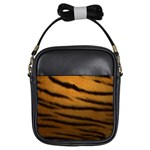 Tiger Print Dark	 Girls Sling Bag