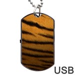 Tiger Print Dark	Dog Tag USB Flash (Two Sides)