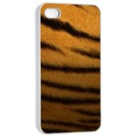 Tiger Print Dark	Apple iPhone 4/4s Seamless Case (White)