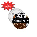 Animal Print	 1.75  Button (10 pack)