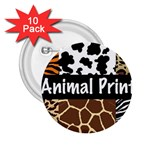 Animal Print	 2.25  Button (10 pack)