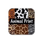 Animal Print	 Rubber Square Coaster (4 pack)