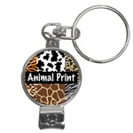 Animal Print	 Nail Clippers Key Chain