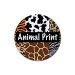 Animal Print	 Rubber Round Coaster (4 pack)