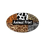Animal Print	 Sticker Oval (10 pack)