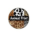 Animal Print	 Hat Clip Ball Marker (4 pack)