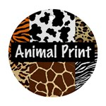 Animal Print	 Round Ornament (Two Sides)