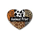 Animal Print	 Rubber Coaster (Heart)