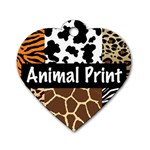 Animal Print	 Dog Tag Heart (One Side)