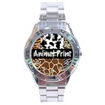 Animal Print	 Stainless Steel Analogue Men's Watch