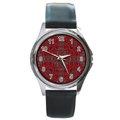 Red Mystic Round Metal Watch from ArtsNow.com Front