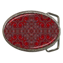 Red Mystic Belt Buckle from ArtsNow.com Front