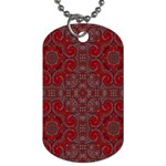 Red Mystic Dog Tag (Two Sides) from ArtsNow.com Front