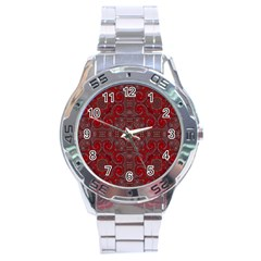 Red Mystic Stainless Steel Analogue Men's Watch from ArtsNow.com Front